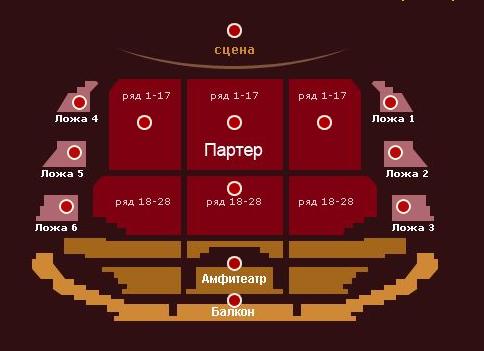 Схема Малого зала Схема Большого зала.